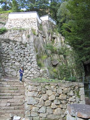備中松山城 石垣